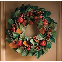 Magnolia and pomegranate, so elegant. Still remember the day Mom taught me to make my boxwood wreath. Christmas Wreaths For Front Door, Fall Wreaths, Christmas Decorations, Holiday Decor, Christmas Snow Globes, Noel Christmas, Christmas Ideas, Magnolia Wreath, Magnolia Leaves