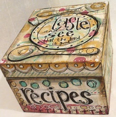 Art by Erin Leigh: Mixed Media Collage Recipe Box Tutorial: Part 1