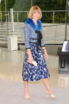 Anna Wintour wearing Marc Jacobs Resort 2014 coat at the 2013 CFDA Awards