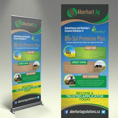 Create a winning eye catching pop up banner for Aberhart Ag Solutions! by…