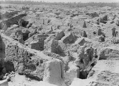 Ancient city of Babylon, Iraq in 1932