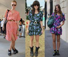 floral grunge  vestido