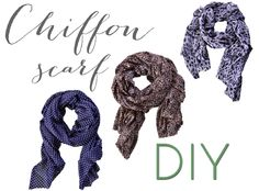 {the easiest} chiffon scarf DIY I need to add some style!!