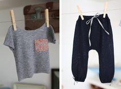 baby clothes, Liberty Print pocket tee