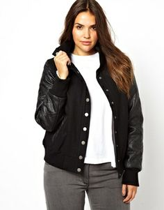 Carmakoma Quilted Leather Look Sleeve Bomber - ordered today from Asos! Yay! :D