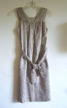 Eccoci Silver Brocade Sleeveless Dress NWT Size 0 Retail $99.00 #Eccoci #Shift #Cocktail