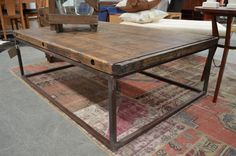 Industrial chic coffee table - The General Store