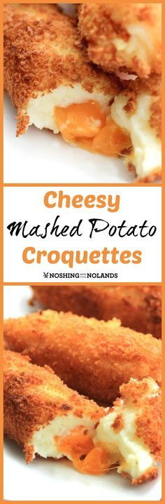 MWM - Cheesy Mashed Potato Croquettes by Noshing With The Nolands - Transform your leftover mashed potatoes into this scrumptious dish!