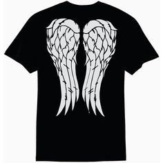 Daryl Dixon Angel Wings the Walking Dead T-Shirt ($20) ❤ liked on Polyvore