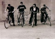 U2 on bikes.