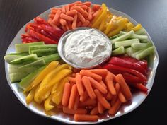 Veggie tray #carrots #peppers #cumcumbers