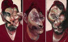 Frances bacon three studies for a portrait of lucian freud