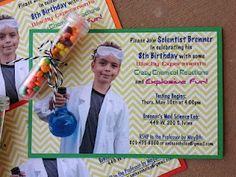 Das ist eine perfekte Idee für eine Einladung zur Forscherparty am Kindergeburtstag. Vielen Dank für die tolle Idee Dein balloonas.com #kindergeburtstag #motto #party #mottoparty #forscher #science #balloonas #einladung #invitation