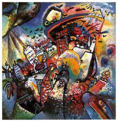 WASSILY KANDINSKY (1896-1944): MOSCOW I. (1916) (Creativity and Art Expression)
