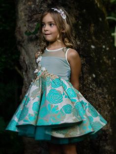 The Mica Dress. A Fairytale collection of special occasion dresses and hair accessories for your little girl. Trendy Dresses, Modest Dresses, Nice Dresses, Fashion Dresses, Dresses With Sleeves, Regal Design, Evening Dresses, Summer Dresses, Gold Hair