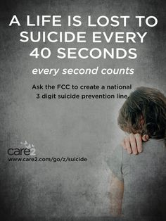 Tell the FCC: Simplify the crisis and suicide-prevention hotline with a three-digit number! - Care2 Petitions