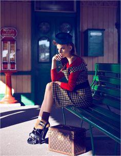 brief encounter7 Semka Semenchenko is Retro Chic for Harrods Magazine by Tibi Clenci
