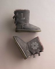 girls personalized classic satin bow ugg® boots