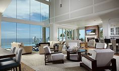 Transitional Interior Design in a Naples, Florida Beach Front Residence.