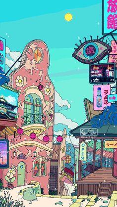Spirited Away and Chill von SeerLight auf DeviantArt - Tiere Vaporwave Wallpaper, Animes Wallpapers, Cute Wallpapers, Aesthetic Art, Aesthetic Anime, Spirited Away Wallpaper, Spirited Away Art, Studio Ghibli Background, Arte 8 Bits