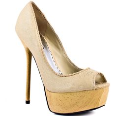 Bebe Shoes Charla - Cream Fabric ($110) ❤ liked on Polyvore