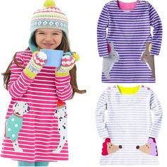 Find More Dresses Information about Children Clothing Girls Kids Dress 2016 Spring Fashion Children Dress Stripe Cartoon Girls Clothes Kids Tunic for 1 6y,High Quality dress patterns prom dresses,China dress sleep Suppliers, Cheap dress elephant from Fashion Kids Wear on Aliexpress.com