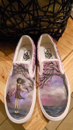 Custom Handpainted Shoes by monasmiled on Etsy, $120.00