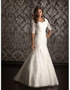 Allure M490 Modest Wedding Dress :: Margene's Bridal Cirlce of Love in Rexburg