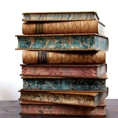 Old Books & Things. — old leather bound books - century Old Books, Antique Books, Vintage Books, Leather Bound Books, Ivy House, World Of Books, Book Images, Painting Edges, Book Crafts