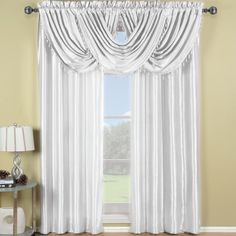 With Love Home Decor - White Soho Waterfall Window Treatment, $9.50 (http://www.withlovehomedecor.com/products/white-soho-waterfall-window-treatment.html)