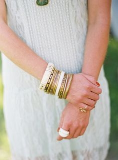 love all the bangles, just sayin' Virginia Farm Wedding from Easton Events By Eric Kelley