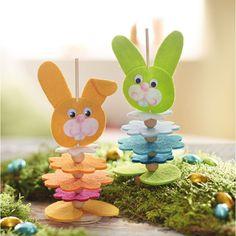 Dıy (do it yourself) - Sachenmacher Filzstecker Osterhase Popsicle Stick Crafts, Craft Stick Crafts, Craft Kits, Popsicle Sticks, Resin Crafts, Easter Art, Easter Crafts, Easter Bunny, Easter Projects