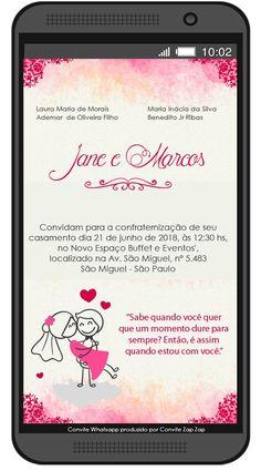 Convite de Casamento Whatsapp Aquarela - comprar online