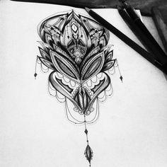 geometric / geometry / Mandala / black / white / grey / art / artist / dotwork / linework /drawing / illustration / lotus / petals / floral / nature