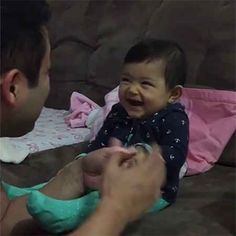 Look at that face, oh my god. That baby knows EXACTLY what she's doing.