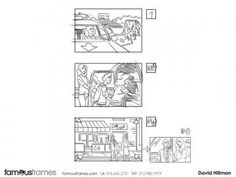 FamousFrames Storyboards, Animatic Artists, Storyboard Artists, David Hillman