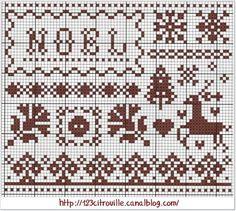 Noel Christmas Cross-Stitch