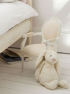 Petite Sweetpea Carved Chair Classical White   Sweetpea & Willow