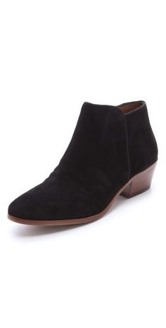 Awesome suede booties by #SamEdelman. These are so versatile! I'm sure this could go with almost anything in a woman's closet.  #shoes #booties