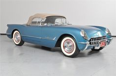 silver blue 1955 CHEVROLET CORVETTE ROADSTER...Re-pin...Brought to you by #HouseofInsurance for #CarInsurance #EugeneOregon