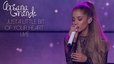 Ariana Grande performing 'Just a Little Bit of Your Heart' written by Harry Styles from her new album 'My Everything' live on her iHeartRadio concert stream.  This is such a beautiful song !