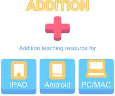 Addition Teaching and Learning iPad Android IWB resources