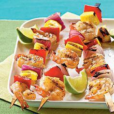Mango Shrimp Kebabs   MyRecipes.com #myplate #protein