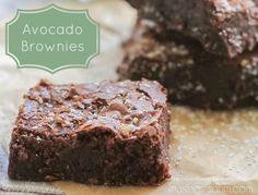 Guilt-Free Super-Moist Avocado Brownies recipe