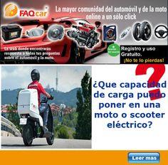 Encontraremos en el mercado motos / scooter eléctricos que ya incluyen capacidad de un equipaje de carga para trabajos de reparto en la ciudad y nuestro trabajo en el día a día y