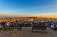 3. Have a picnic at the bunker  If you want to find the best panoramic views over Barcelona, head up to the Bunker del Carmel. This idyllic spot makes for a great place to bring a picnic and watch the sun setting over the Barcelona sprawl. To get here, take metro line L4 (yellow) to station Alfons X. From Alfons X, take exit Ronda de Guinardo, cross the street and turn left. From here, you have to walk up a hill for about 25-30 minutes. I promise you, the view is worth it!