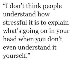 But if I feel comfortable enough I may ramble on until I figure it out or get sick of hearing my own voice.