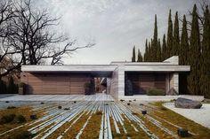 Проект деревянного одноэтажного дома в стиле минимализм в Польше   Блог Частная архитектура