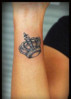 08 Crown Tattoo on Wrist