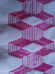 Resultado de imagem para pinterest vagonite pasta bordados Hand Embroidery Designs, Embroidery Stitches, Cross Stitches, Free Swedish Weaving Patterns, Swedish Embroidery, Monks Cloth, Bargello, Chain Stitch, Loom Beading